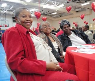 Seniors at Valentine Social